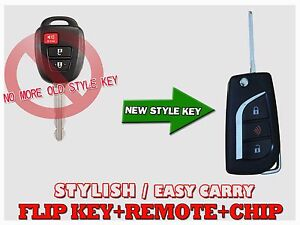 Flip Key For Hyq12bdp New 17 18 Toyota Tacoma H Chip Remote 3 Buttons