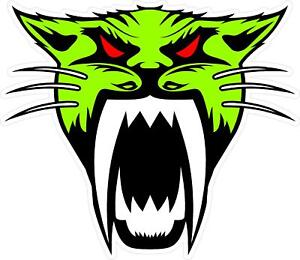 g155 Arctic Cat Head Green Red Racing Decal Sticker Fully Laminated Vinyl