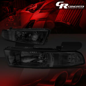 Smoked Lens Clear Corner Headlight Lamps Lh Rh Side For 99 03 Mitsubishi Galant