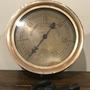 American Steam Gauge Antique Industrial Steampunk Decor Callahan Kingsley