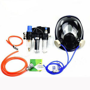 Anti dust Painting Supplied Air Fed Respirator System 6800 Full Face Gas Mask