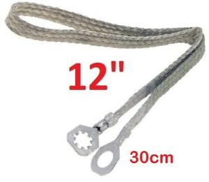 Universal 12 30cm Copper Ground Bonding Strap Tin Coated Strip Cable