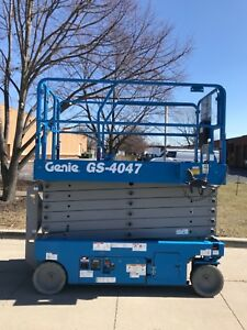2016 Genie Gs4047 47 Working Height Electric Scissor Lift Awp Jlg Manlift