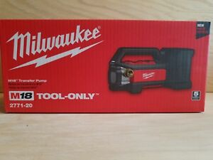 Brand New Milwaukee 2771 20 M18 Transfer Pump Tool Only In Retail Box