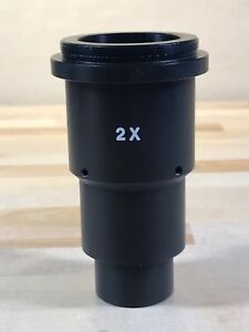 Microscope 2x Wild Leica Motic Adapter For 26mm Photo Eyetubes W Optics