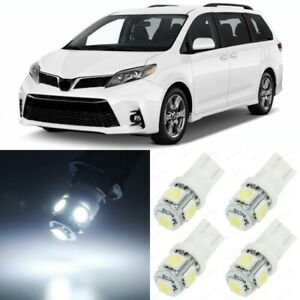 19 X Xenon White Interior Led Lights Package For 2011 2020 Toyota Sienna Tool