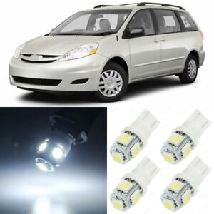 15 X Xenon White Interior Led Lights Package For 2004 2010 Toyota Sienna Tool