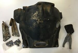 1946 1947 Chrysler Desoto Fluid Drive Cast Bell Housing Starter Mount W Fork