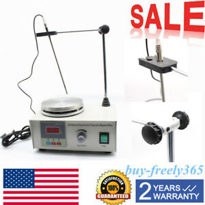 Magnetic Stirrer With Heating Plate Hotplate Mixer 110v Digital Display 200w