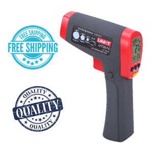 Uni t Ut301c High Quality Temperature Laser Gun Thermometers Red Grey Colour