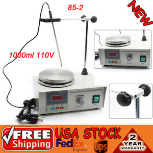Magnetic Stirrer With Heating Plate Digital Hotplate Mixer Stir Bar 1000ml 110v