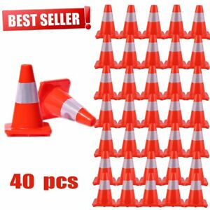 12 18 Reflective Red Wide Body Safety Cones Construction Traffic Sports Lot