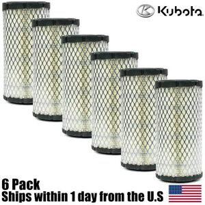 6pk Genuine Oem Kubota Air Filter K1211 82320 Bx2200 Bx1500 Bx1800 Zd18 Zd21