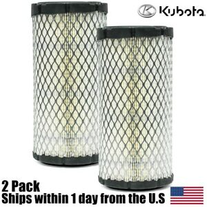 2pk Genuine Oem Kubota Air Filter K1211 82320 Bx2200 Bx1500 Bx1800 Zd18 Zd21