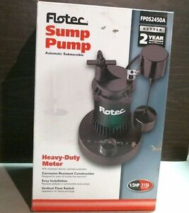 Flotec 13819 Fp0s2450a Automatic Submersible Sump Pump 1 3 Hp Free Shipping