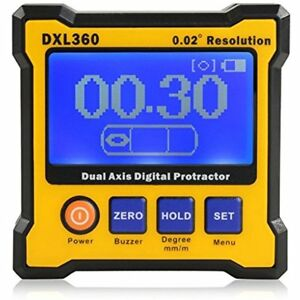 Axis Level Box Inclinometer Dual Digital Angle Protractor With 5 Side Magnetic