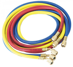 Robinair 30072 1 4 Standard Hoses With Standard Fittings Set 72 Set Of 3