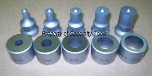 Enerpac Hydraulic Sp 35 Ton Replacement Punch Die Set 1 4 3 8 1 2 5 8 3 4 New