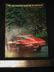 Orignal 1966 Chevy Corvette Showroom Dealership Salesman Brochure Sting Ray 66