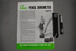 Shore Pencil Durometer Hardness Tester Model P a New