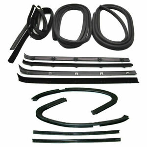 New Set Of 12 Door Weatherstrip Rubber Seal Kit For Gmc C k Pickup Truck 73 1980
