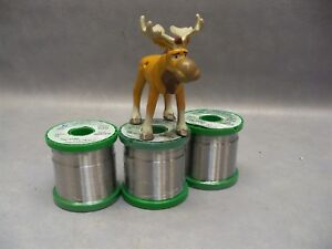 Solder Wire 63sn 37pb Alloy 032 Dia Alpha Telecore Plus P1 Flux 3 Pounds