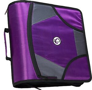 Case it King Sized Zip Tab 4 inch D ring Zipper Binder With 5 tab File Folder