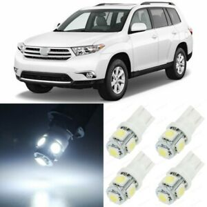 14 X Xenon White Interior Led Lights Package For 2008 2013 Toyota Highlander