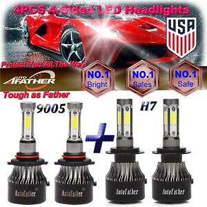 2040w Combo Led Headlight 9005 H7 High Lo Beam For Subaru Outback Legacy Tribeca