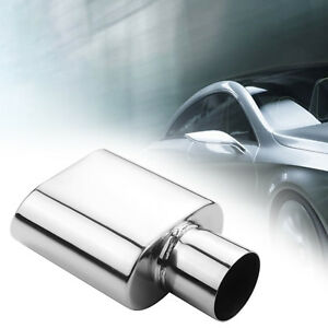 Car Exhaust Tip 2 5 Inlet 5 5 X 3 Outlet Stainless Steel Rolled Oval Slant