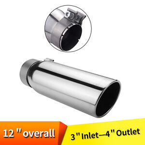 Car Exhaust Tip 3 Inlet 4 Outlet Stainless Steel Silverado Suburban Avalanche