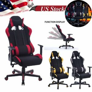 Racing Style Gaming Chair Computer High Back Pu Leather Ergonomic Office Seat Hm