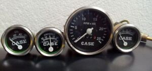 Gauges Kit Case Tractor Temperature oil Pressure tachometer Ampere