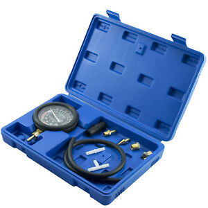 Fuel Pump Engine Vacuum Pressure Gauge Leak Diagnostic Tool Tester Kit Case