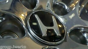 Brand New Oem Genuine Honda Alloy Rim Wheel Black Center Cap Chrome Emblem Ring