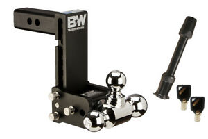 B w Tow And Stow Ball Mount Bundle 7 Drop 7 1 2 Rise Tri ball Ts10049b
