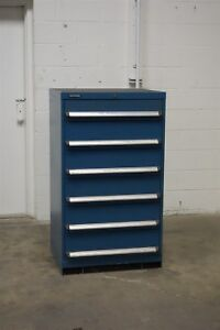 Used Kennedy 6 Drawer Cabinet 51 Inch Tall Industrial Tool Storage 1200 Vidmar