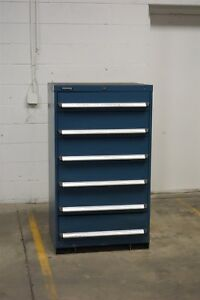 Used Kennedy 6 Drawer Cabinet 51 Inch Tall Industrial Tool Storage 1205 Vidmar