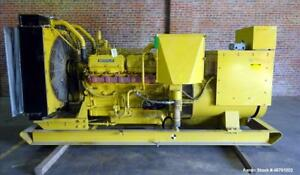 Used Caterpillar 500 Kw Standby Diesel Generator Model 3412 Open Skid Batte