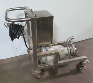 Fristam Fzx 2150 Self Priming Centrifugal Pump W Baldor 7 5hp Motor And Stand