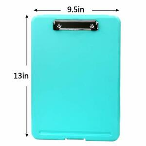 Blue Plastic Storage Clipboard Office Nursing Case Document Letter Size Holder