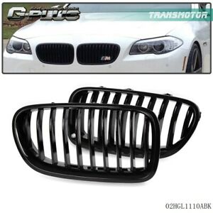 For 2013 2016 Bmw 5 series F18 Front Bumper Kidney Grille Glossy Black