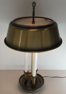 Vintage Brass French Bouillotte Lamp Retro Hollywood Regency Candlestick Modern