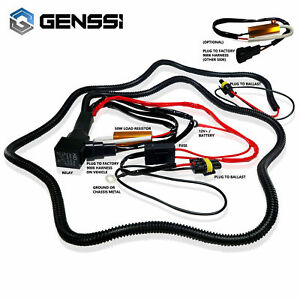 9007 Hid Relay Wiring Harness For Xenon Conversion Kit W 2x 50w Resistor