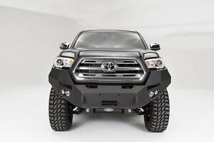 Fab Fours Tt16 B3651 1 Blk Premium Winch Front Bumper For 2016 19 Toyota Tacoma