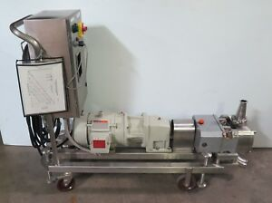 2 5 Fristam Ss Fl2100s Rotary Lobe Pump W Reliance Motor And Sp550 Vsdrive