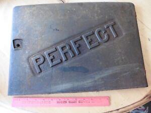 Perfect Cast Iron Wood Burning Stove Door Vintage Part Sign Furnace Advertise