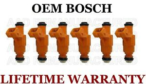 Oem Bosch 6x Fuel Injectors 99 01 Ford Explorer Mercury Mountaineer 4 0l Vin E