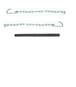 Dodge Truck Polished Stainless Tailgate Chain Set W black Covers 39 85