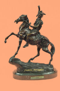 Hand Made The Scalp Frederic Remington 10 Vintage Style Bronze Brown Patina